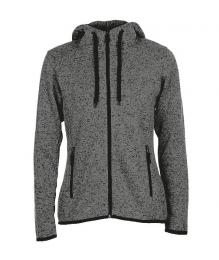 413 Pletená Fleece mikina dámská Dark Gray Melange|XL