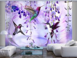 Murando DeLuxe Tapeta létající kolibøíci - fialová