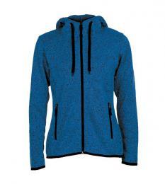 413 Pletená Fleece mikina dámská Blue Melange|S