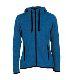 413 Pletená fleece mikina dámská Blue Melange|L