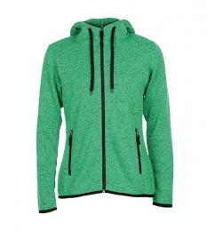 413 Pletená Fleece mikina dámská Green Melange|S