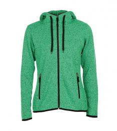 413 Pletená Fleece mikina dámská Green Melange|XL