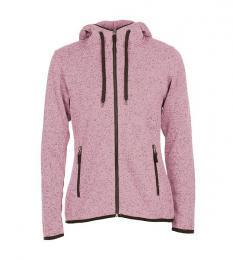 413 Pletená fleece mikina dámská Purple Melange|L