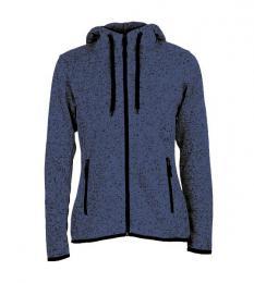 413 Pletená Fleece mikina dámská Marina Blue Melange|XL