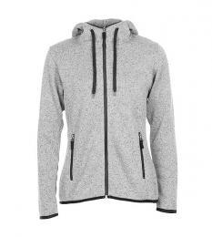 413 Pletená fleece mikina dámská Light Grey Melange|M
