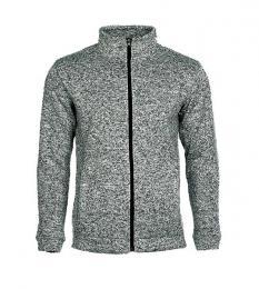 414 Pletená fleece mikina pánská Dark Gray Melange|M