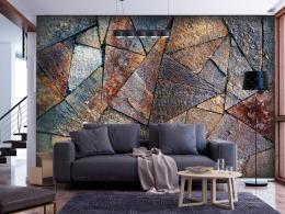 Murando DeLuxe Tapeta kamenná dlažba - barevná