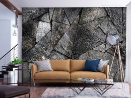 Murando DeLuxe Tapeta kamenná dlažba - šedá