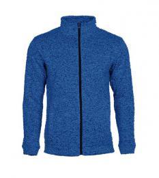 414 Pletená fleece mikina pánská Blue Melange|S