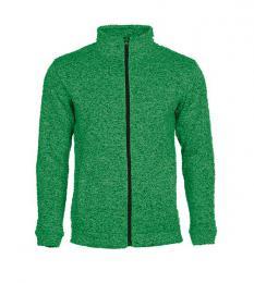 414 Pletená fleece mikina pánská Green Melange|XXL