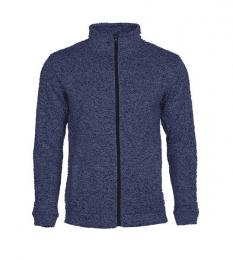 414 Pletená fleece mikina pánská Marina Blue Melange|L