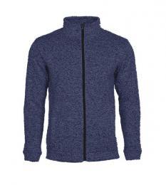 414 Pletená fleece mikina pánská Marina Blue Melange|XXL