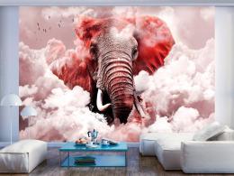 Murando DeLuxe Tapeta slon v oblacích - rùžový