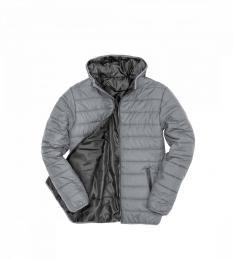 415 Prošívaná bunda Frost Grey /Black|XL