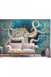 Murando DeLuxe 3D tapeta mandala a chobotnice