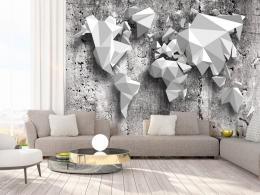 Murando DeLuxe Tapeta mapa svìta - origami