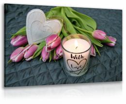 InSmile ® Obraz relax - kvìtina se svíèkou