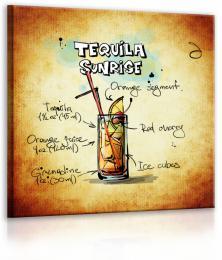 InSmile ® Obraz cedule Tequila Sunrise  - zvìtšit obrázek