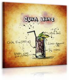 InSmile ® Obraz cedule Cuba Libre