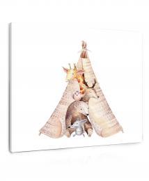 InSmile ® Obraz malovaná zvíøátka  - zvìtšit obrázek