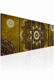 InSmile ® Obraz kouzelná mandala zlato hnìdá