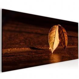 InSmile ® Obraz podzimní list na døevì