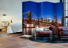 Murando DeLuxe Paraván modrý New York II  - zvìtšit obrázek