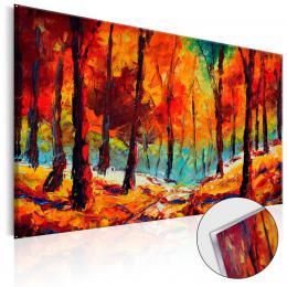 Murando DeLuxe Akrylátové sklo obraz Podzim