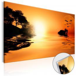 Murando DeLuxe Západ slunce obraz na skle