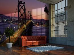Murando DeLuxe Fialová tapeta San Francisco Rozmìry (š x v) a Typ  450x315 cm - vliesové