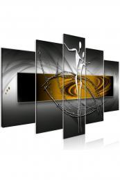 Murando DeLuxe Abstraktní obraz tango - žlutý