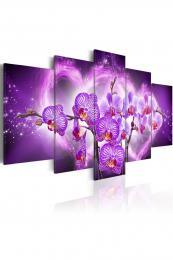 Murando DeLuxe Pìtidílný obraz fialová orchidej