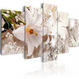 Murando DeLuxe  Bílé lilie Velikost  100x50 cm