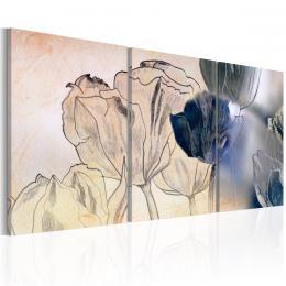 Murando DeLuxe Tøídílné obrazy - tulipány
