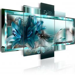Murando DeLuxe Modré lilie Velikost  100x50 cm