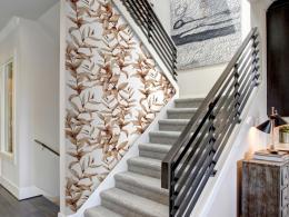 Murando DeLuxe Sépiová rostlina Klasické tapety  49x1000 cm - samolepicí