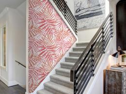 Murando DeLuxe Palmová èerveò Klasické tapety  49x1000 cm - samolepicí