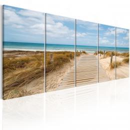 Murando DeLuxe Vícedílný obraz - vstup na pláž