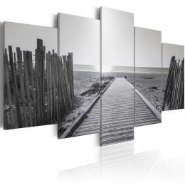Murando DeLuxe Vícedílné obrazy - šedobílá vzpomínka