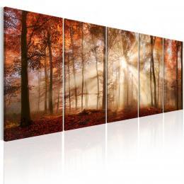Murando DeLuxe Pìtidílný obraz - záøící stromy