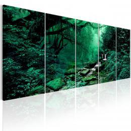 Murando DeLuxe Pìtidílný obraz - lesní potok
