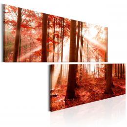 Murando DeLuxe Dvoudílné obrazy - podzimní les Velikost  180x90 cm