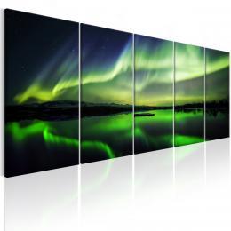 Murando DeLuxe Pìtidílný obraz - zelená záøe