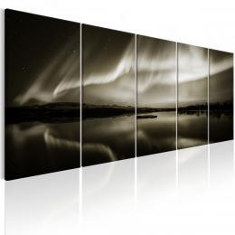 Murando DeLuxe Pìtidílný obraz - jezero v noci