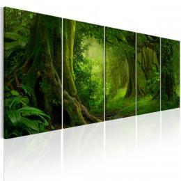 Murando DeLuxe Vícedílný obraz - tropická džungle