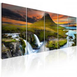 Murando DeLuxe Pìtidílný obraz - úžasný Island