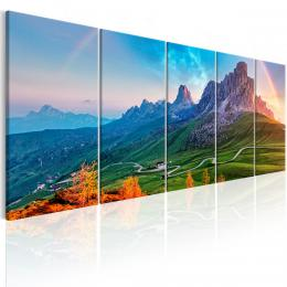 Murando DeLuxe Pìtidílný obraz - hory