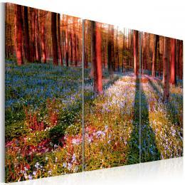 Murando DeLuxe Tøídílné obrazy - sluneèný les