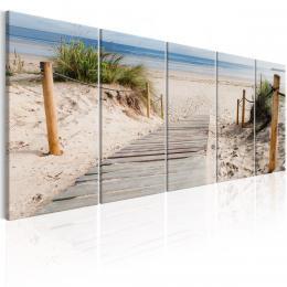 Murando DeLuxe Pìtidílný obraz - pláž