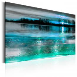 Murando DeLuxe Zimní jezero Velikost  96x64 cm